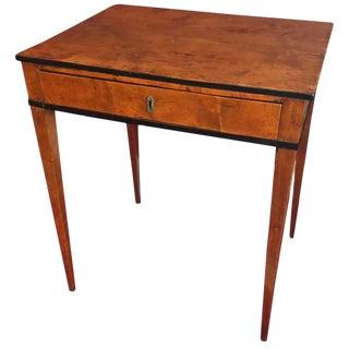 1830 Biedermeier Sewing Table For Sale