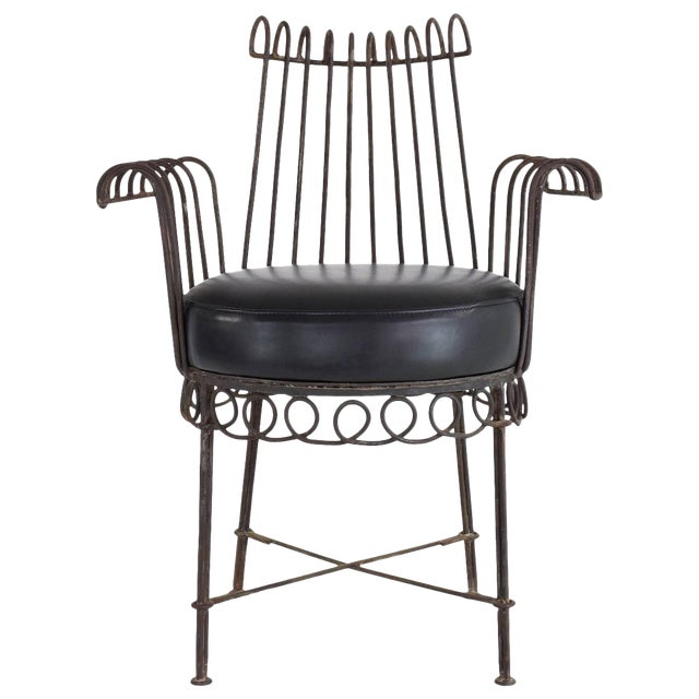 French Mid-Century Cap d'Ail Chair by Mathieu Matégot, 1950's For Sale