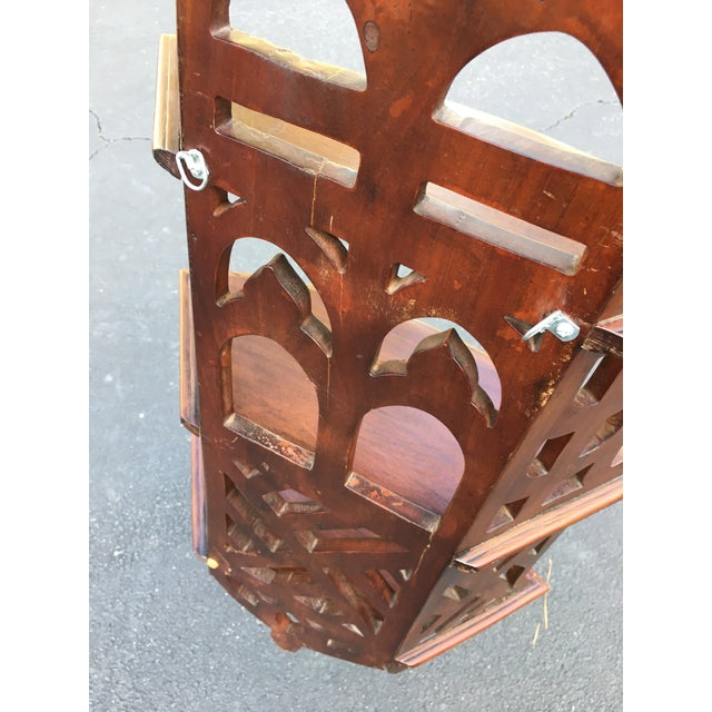 Chippendale Style Mahogany Three Tier Shelves For Sale - Image 5 of 7