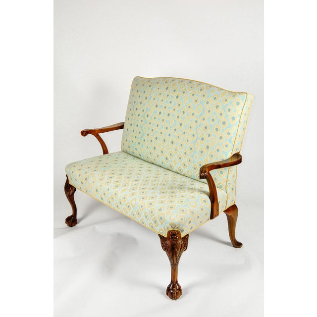 Antique Camelback Claw Foot Settees For Sale - Image 9 of 12