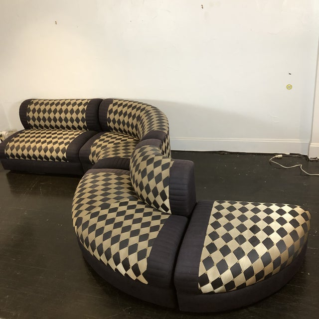 Mid-Century Modern 1980s Vladimir Kagan Curved 5 Piece Sofa for Weiman For Sale - Image 3 of 13
