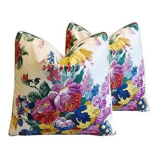 "Hazelton House Floral Feather/Down Pillows 19"" Square- Pair"