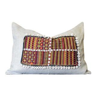 Ubika Jumlo Shell Embellished Pillow For Sale