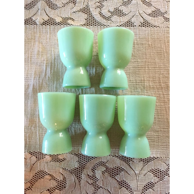 Anchor Hocking Fire King Egg Cups - Set of 5 For Sale - Image 4 of 4