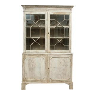 19th Century Painted English Cabinet For Sale
