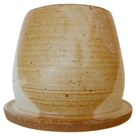 Handmade Signed Art Pottery Vase/Bowl For Sale