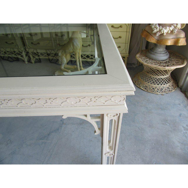 Palm Beach Fretwork Dining Table For Sale - Image 10 of 12