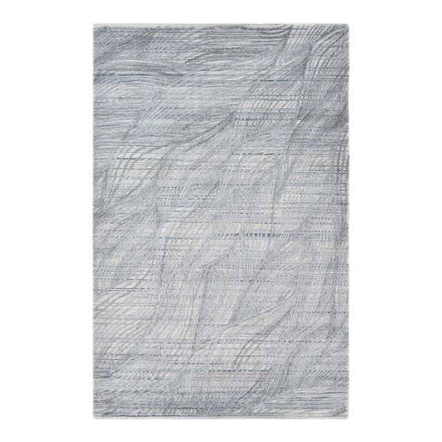 Shiva, Contemporary Modern Hand Loomed Area Rug, Mist, 9 X 12 For Sale