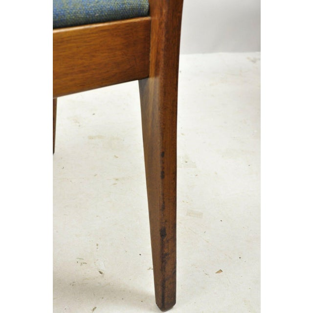 Drexel Dateline John Van Koert Walnut Mid Century Modern Dining Side Chair (B) For Sale - Image 9 of 13