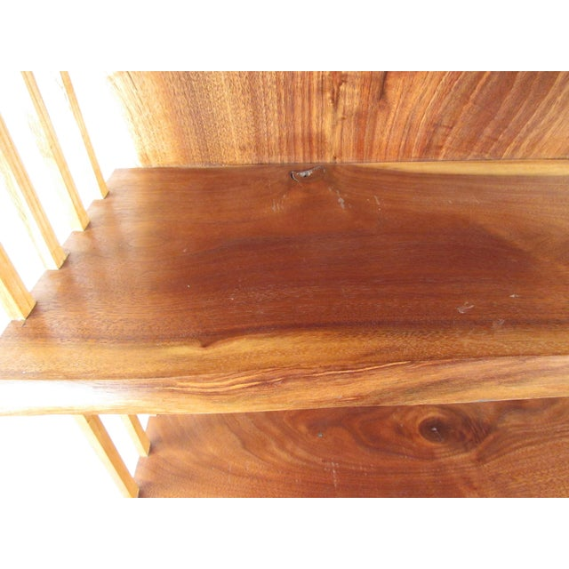 Modern Live Edge Wall Shelf After George Nakashima For Sale - Image 12 of 13