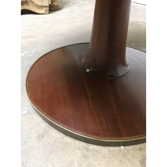 T.H. Robsjohn-Gibbings Expandable Round Mahogany Dining Table For Sale In Los Angeles - Image 6 of 13