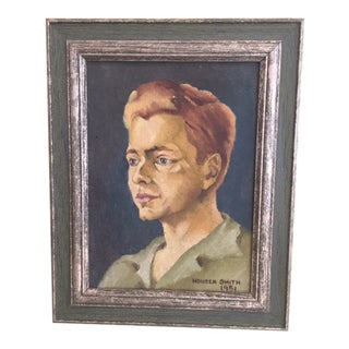 Figurative Oil Portrait of a Boy For Sale