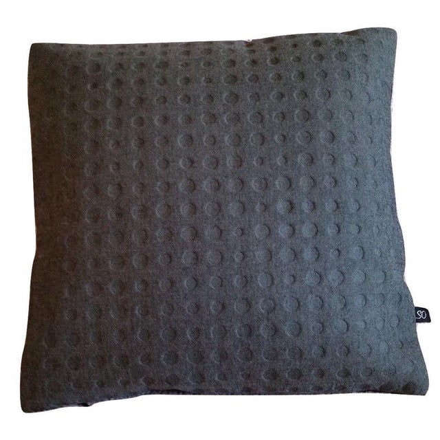 Maharam Kvadrat Highfield & Gray Divina Wool Pillow Cover - Image 1 of 2