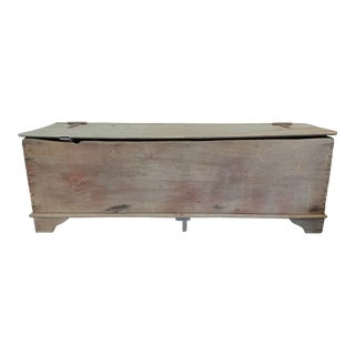Large Wooden Storage Trunk For Sale