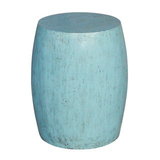 Beautiful Turquoise Drum Table For Sale
