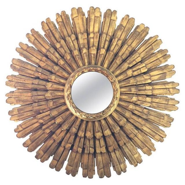 Large Italian Giltwood Sunburst Mirror - Image 1 of 5