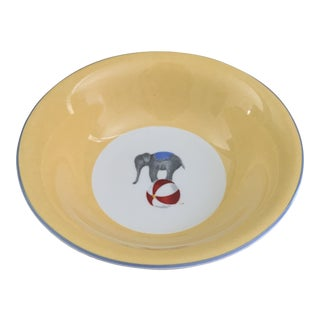 Vintage Hermes Circus Elephant Porcelain Bowl For Sale