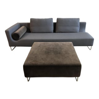 BenSen Canyon Left Arm Sofa + Ottoman For Sale