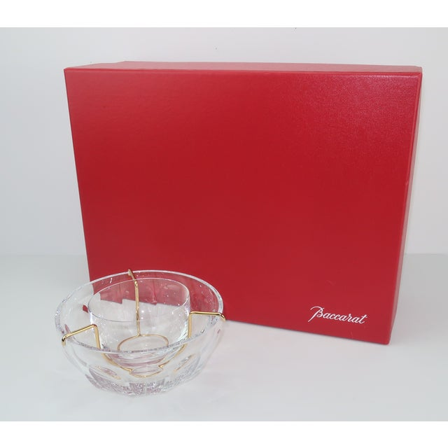 Baccarat crystal is considered the finest in the world and indeed, this caviar server simply glows with handsome...