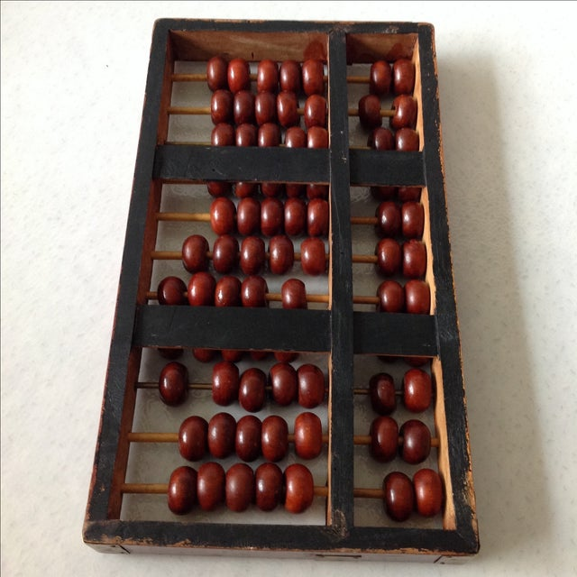 Vintage Asian Wood and Brass Abacus - Image 6 of 6