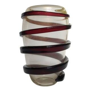 Cenedese Art Glass Swirl Vase For Sale