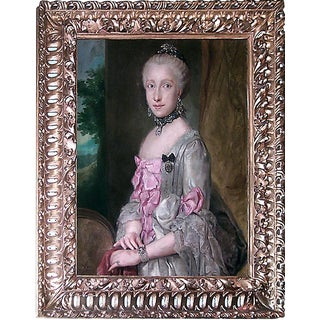 French Lady in Pink Portrait For Sale