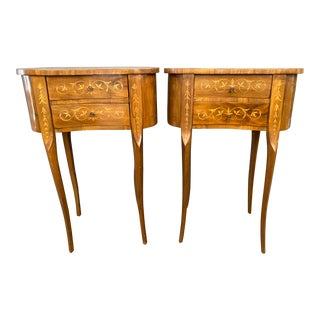 Early 20th Century Italian Kidney Side Tables - a Pair For Sale