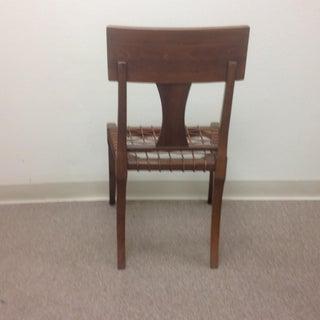 Modern Klismos Style Walnut Side Chair Preview