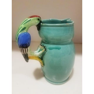 1970s Hand Made and Painted Italian Pitcher With Parrot Handle Preview