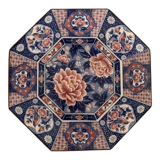 Antique Japanese Chinoiserie Floral Plate For Sale