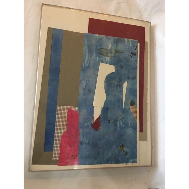 Mitzi Levin Abstract Collage, 1983 - Image 10 of 10