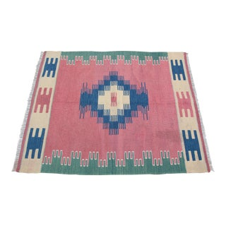 1990s Petite Turkish Kilim Rug - 2′10″ × 3′8″ For Sale