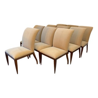 """Dessin Fournir """"Werth"""" Dining Chairs-Set of 10 For Sale"""