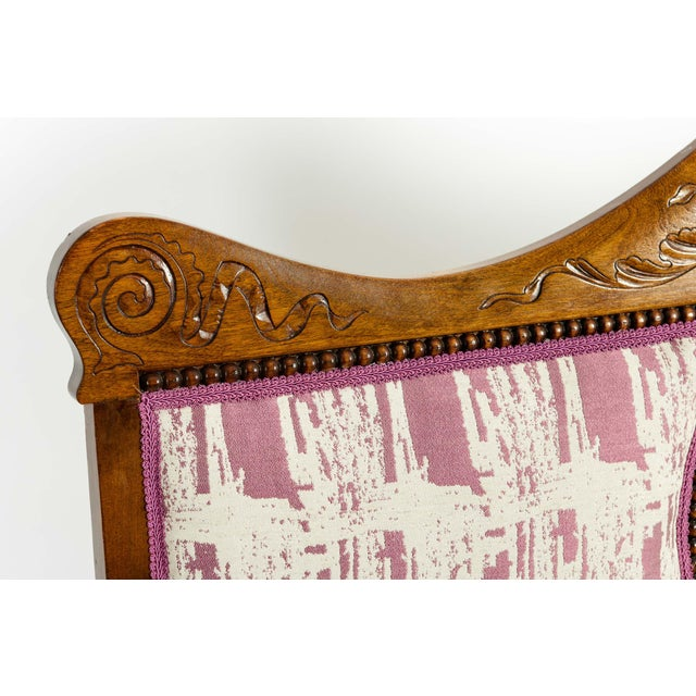 Mid-19th Century Hand Carved Mahogany Victorian Style Settee For Sale In New York - Image 6 of 13
