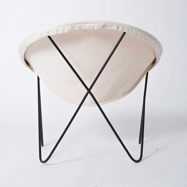 Single California Modernist Hoop Chair with Hairpin Legs - Image 5 of 5