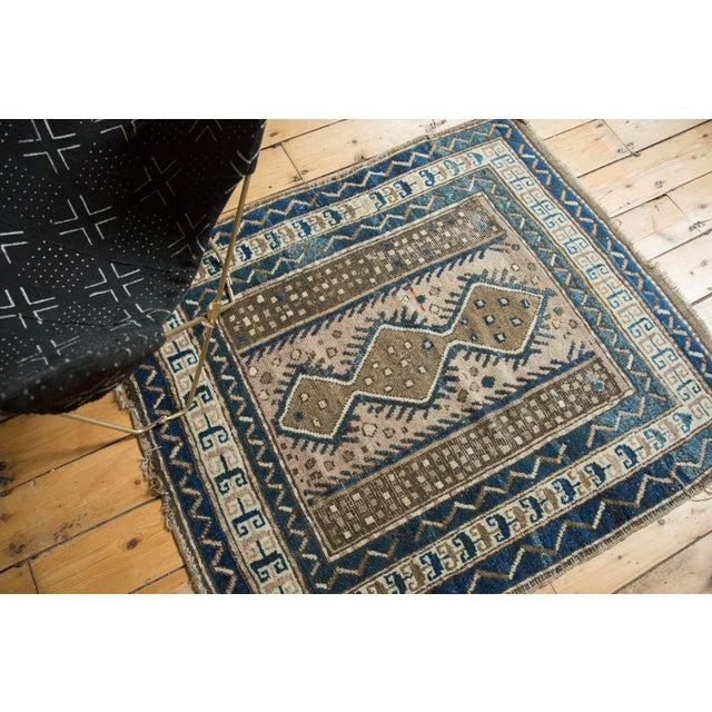 "Textile Vintage Caucasian Square Rug - 3'6"" x 4' For Sale - Image 7 of 10"