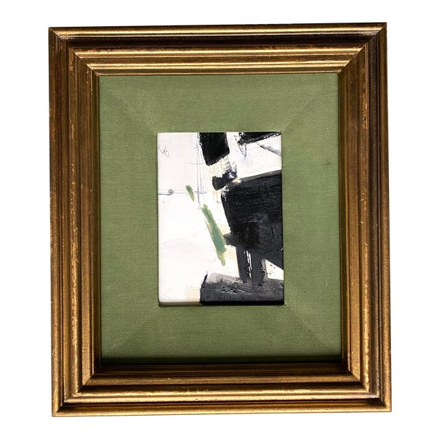 Abstract Black and Green by Kimberly Moore For Sale