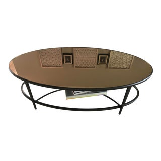 Martha Stewart Bernhardt Forged Bronze Coffee Table For Sale