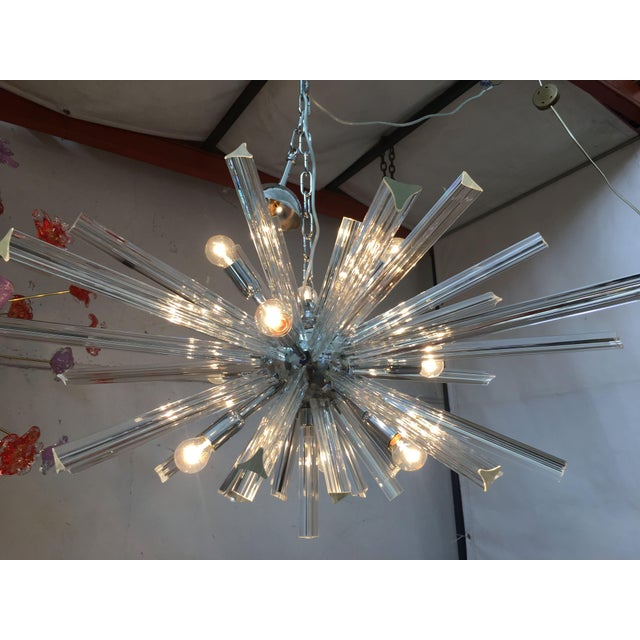 Contemporary Italian Murano Glass Sputnik Chandelier For Sale - Image 3 of 13