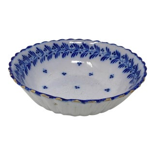 Painted Blue Bowl For Sale