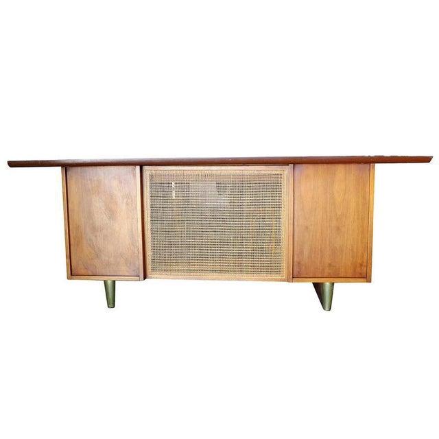 Mid-Century Mahogany Executive Desk With Brass Pulls - Image 3 of 10