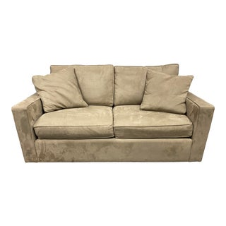 Room and Board Ultra Suede Loveseat For Sale