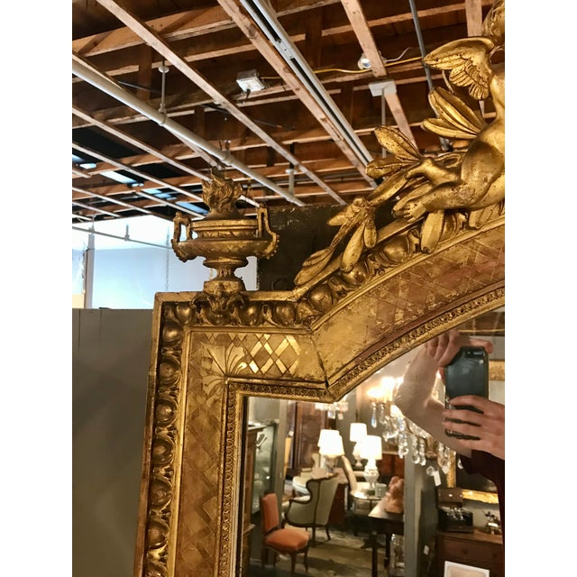 Napoleon III Parcel Gilt Over Mantel Mirror For Sale - Image 4 of 6