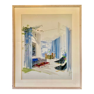 1970s Vintage Jeremiah Goodman Interior Painting For Sale