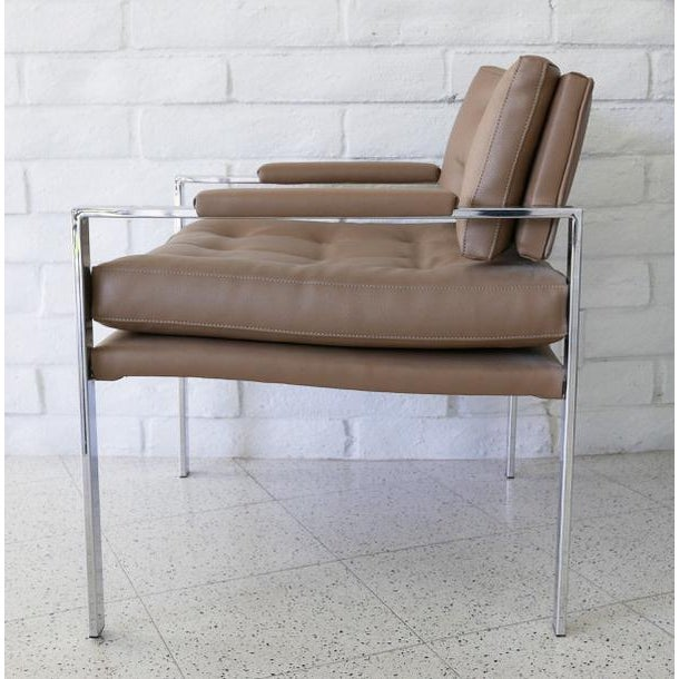 American Milo Baughman for Thayer Coggin Lounge Chairs - Pair For Sale - Image 3 of 7
