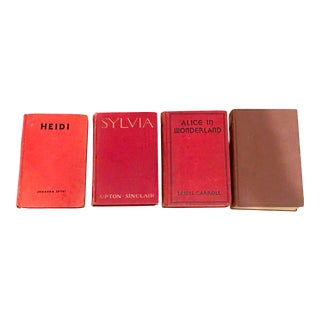 Mid-20th Century First Edition Red Cloth Books - Set of 4 For Sale