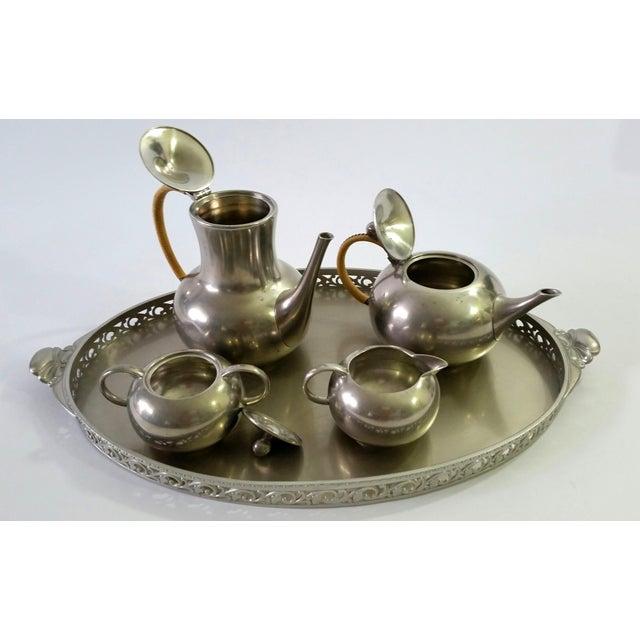 1960s Vintage Royal Holland Pewter Tea Serving Set For Sale - Image 9 of 11