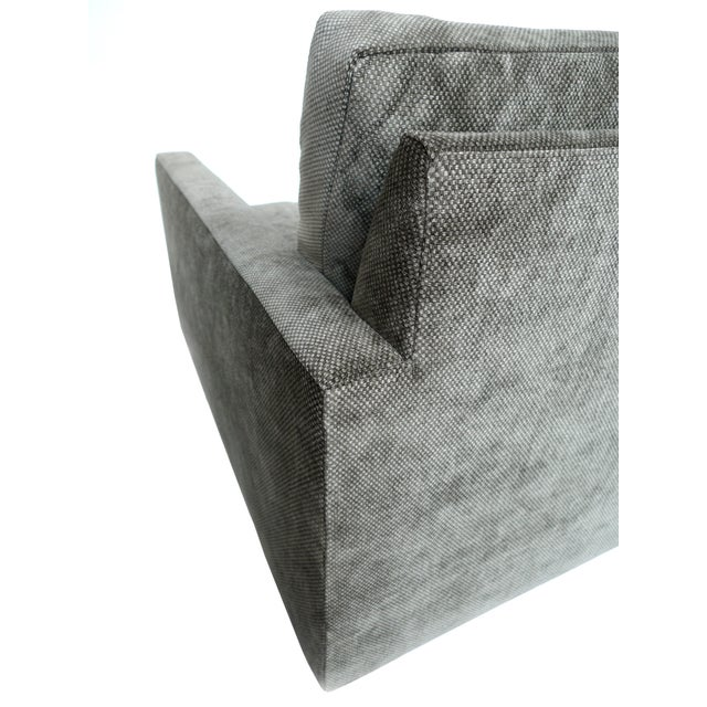 1970s Milo Baughman Gray Cube Chair - Image 7 of 8