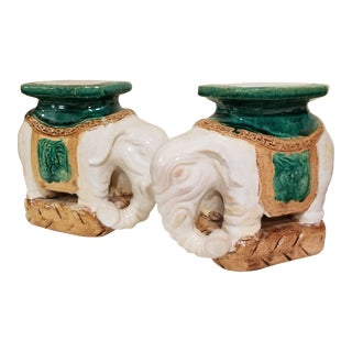 Miniature Chinese Elephant Garden Seats For Sale