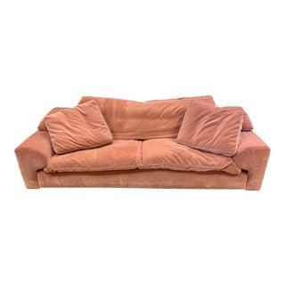 Roche Bois Pink Velvet Upholstered Sofa For Sale